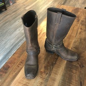 Frye 77300 Harness Brown Leather Boots Women 6.5